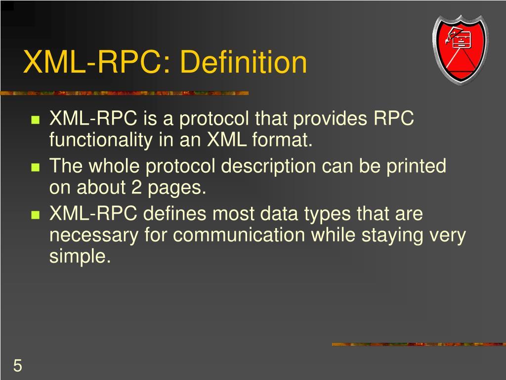 XML-RPC: Definition