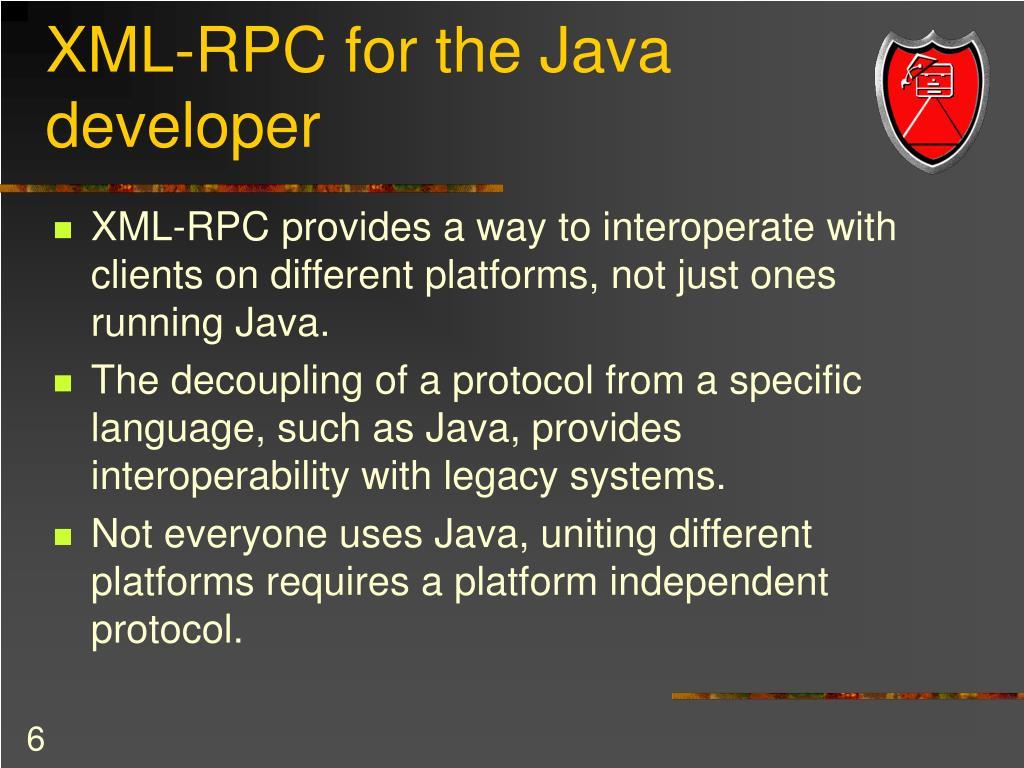 XML-RPC for the Java developer