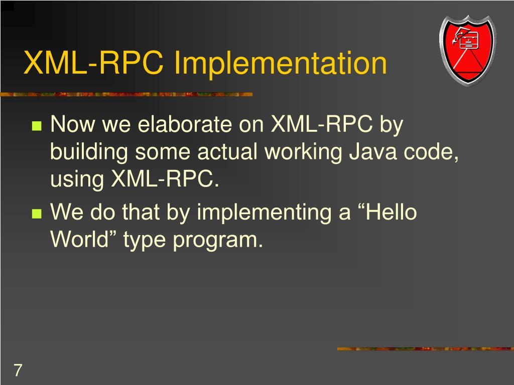 XML-RPC Implementation