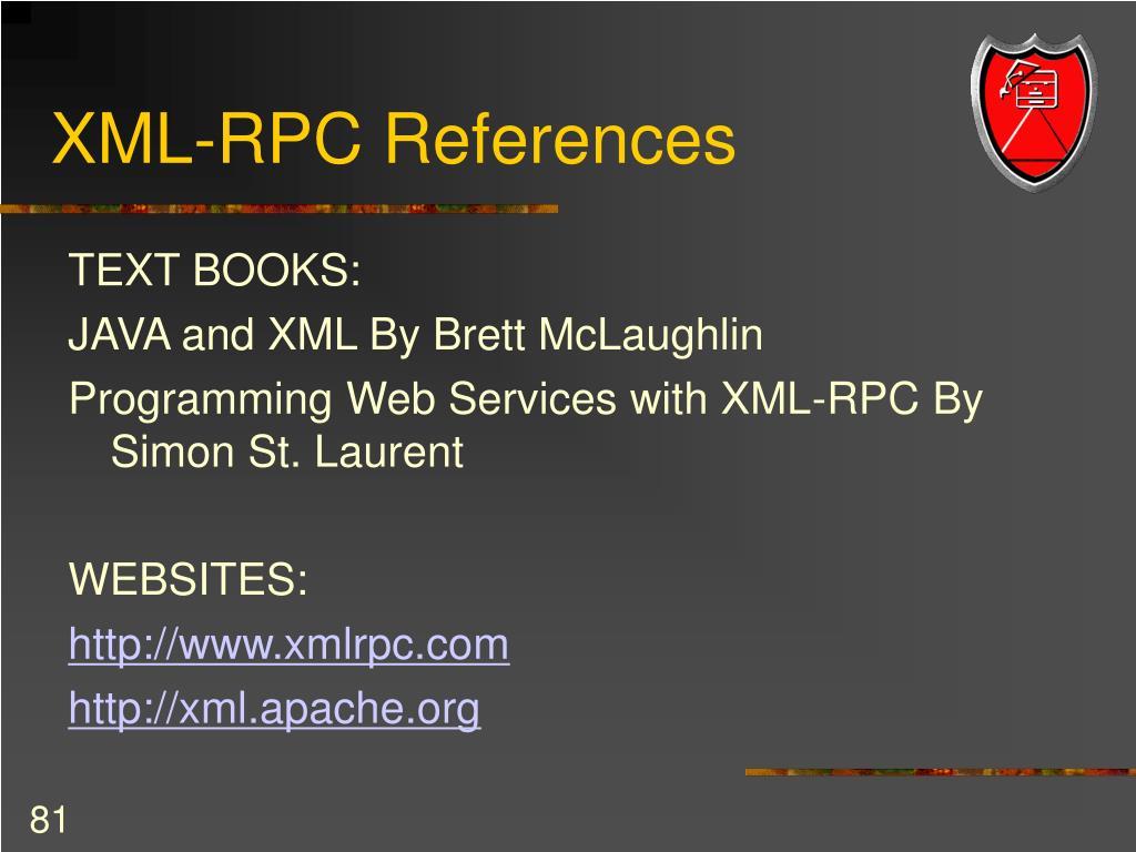 XML-RPC References