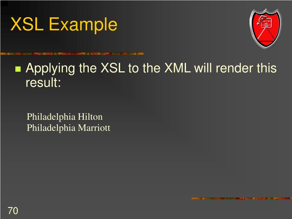 XSL Example