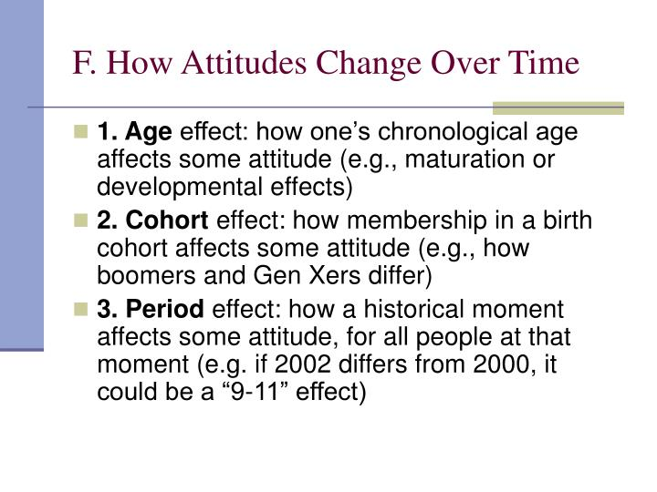 F. How Attitudes Change Over Time