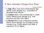 f how attitudes change over time