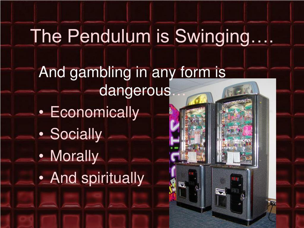 The Pendulum is Swinging….