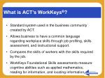 what is act s workkeys