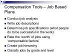 compensation tools job based plans