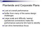 plantwide and corporate plans