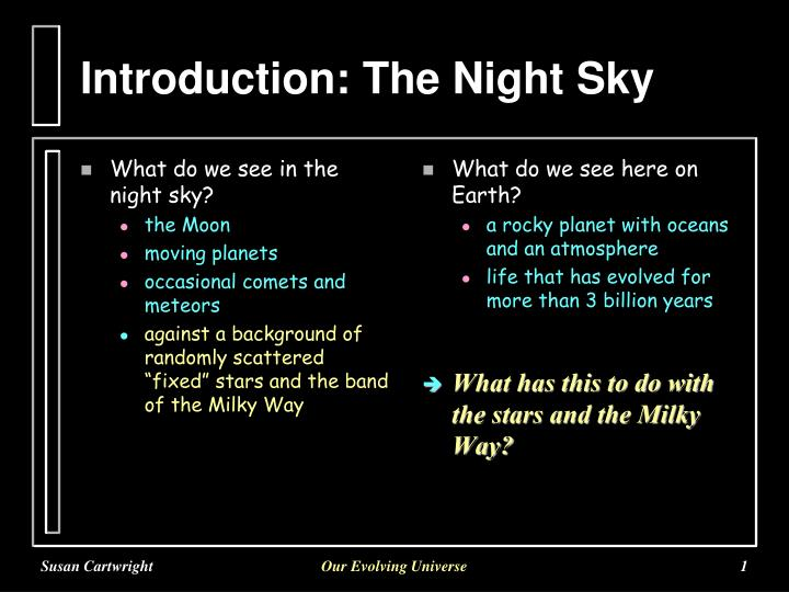 introduction the night sky n.