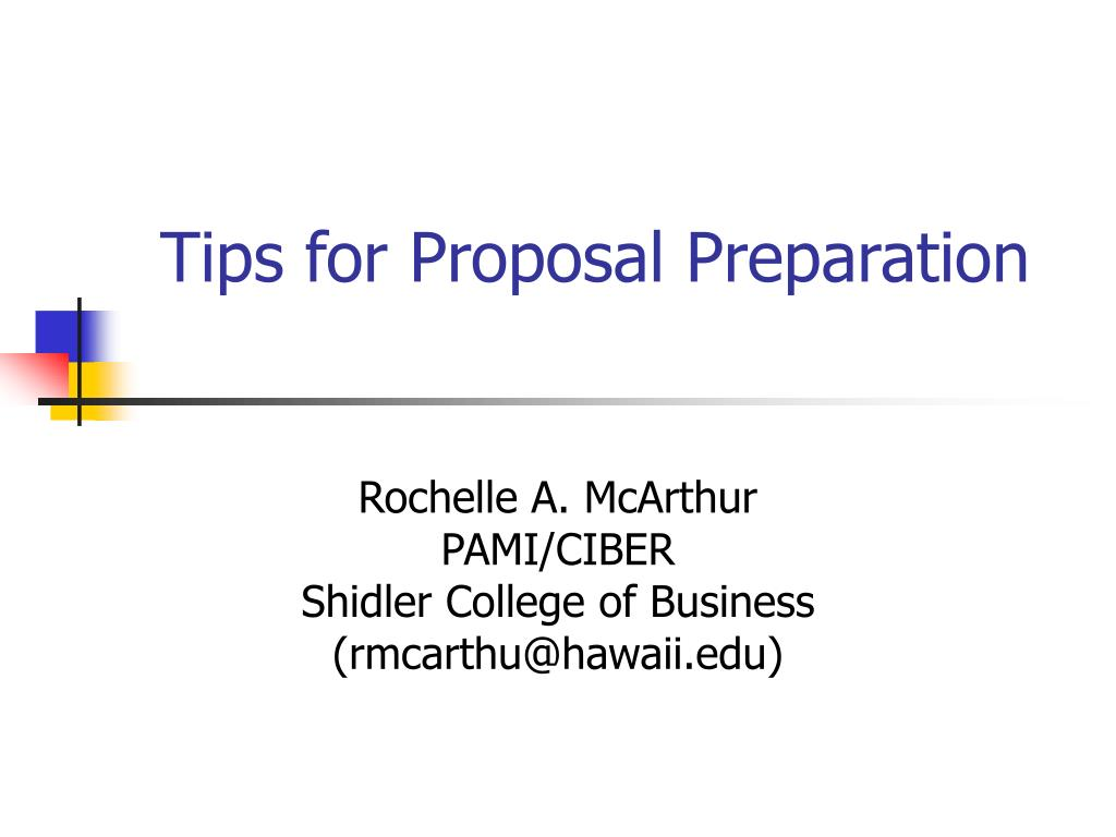 tips for proposal preparation