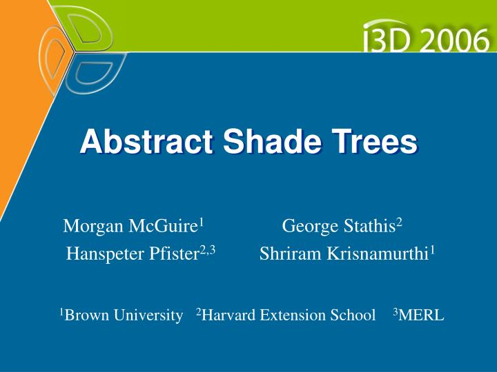 abstract shade trees n.