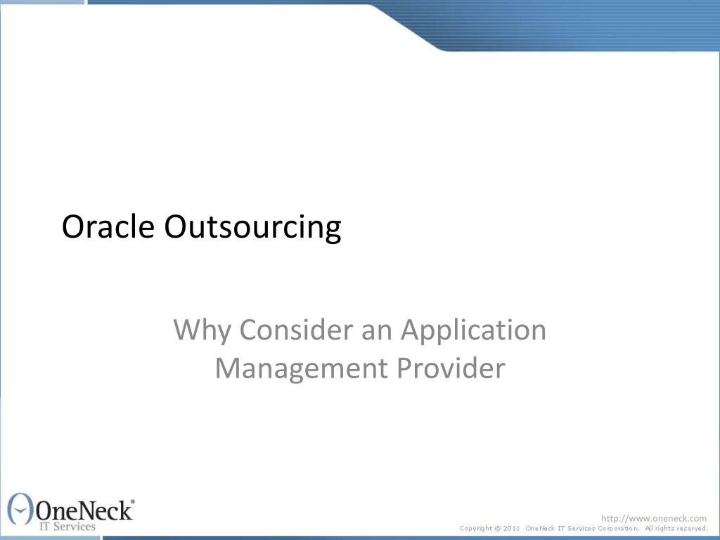 oracle outsourcing l.