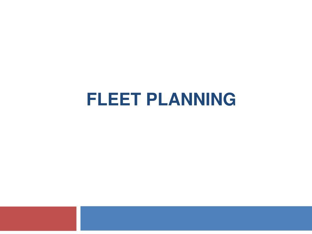 fleet planning l.