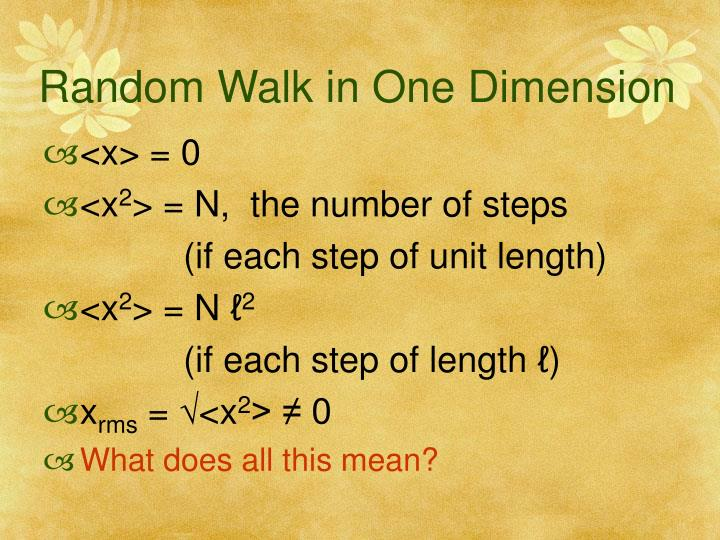 Random Walk in One Dimension