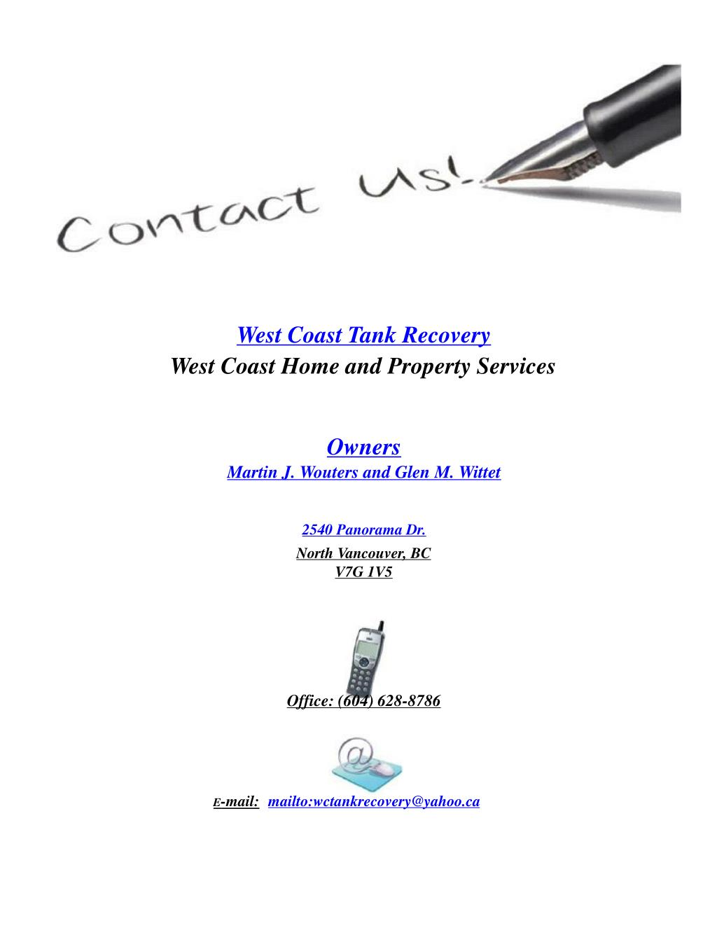 West Coast Tank Recovery