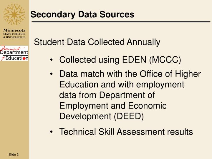 secondary data Paper topic: advantages and disadvantages of secondary data introduction secondary data is an important terminology used in research studies where the collected data is of two types that include the primary data and secondary data.