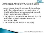 american antiquity citation style