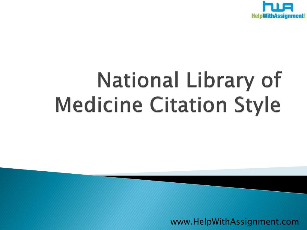 national library of medicine citation style l.
