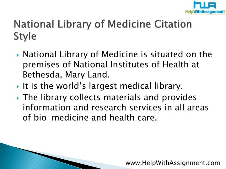 National library of medicine citation style2