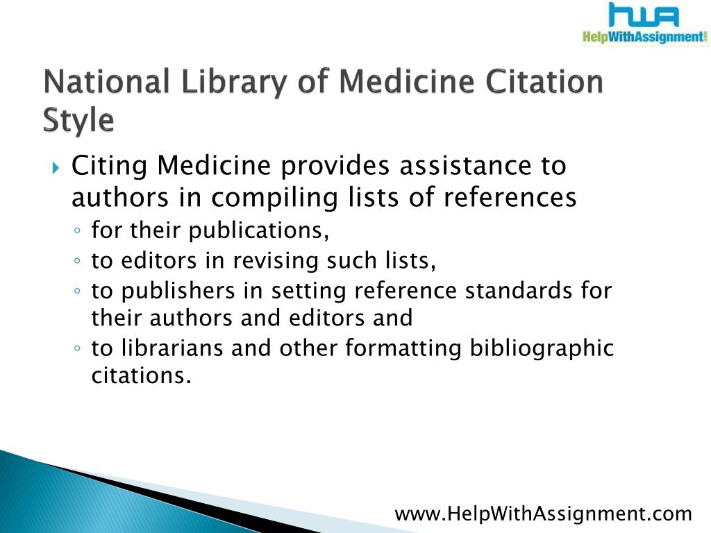 National Library of Medicine Citation Style