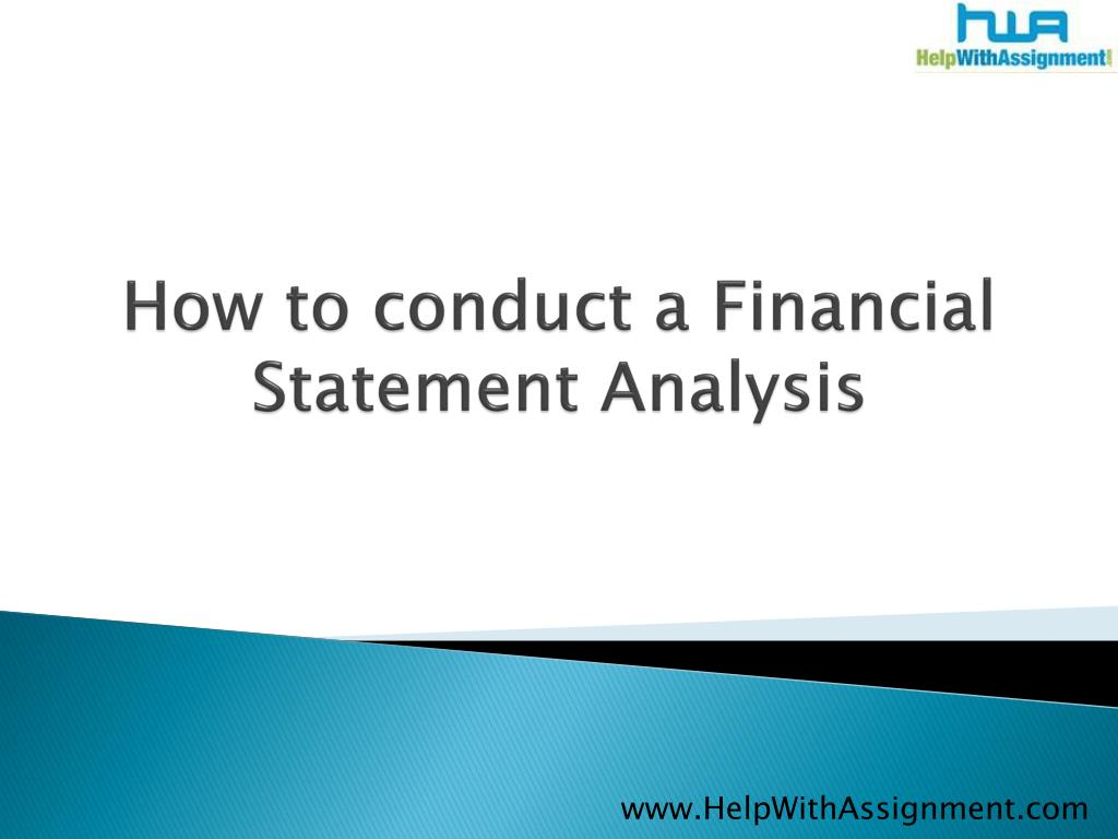 how to conduct a financial statement analysis l.