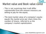 market value and book value contd11