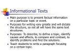 informational texts
