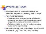 procedural texts
