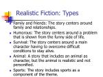 realistic fiction types