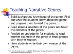 teaching narrative genres
