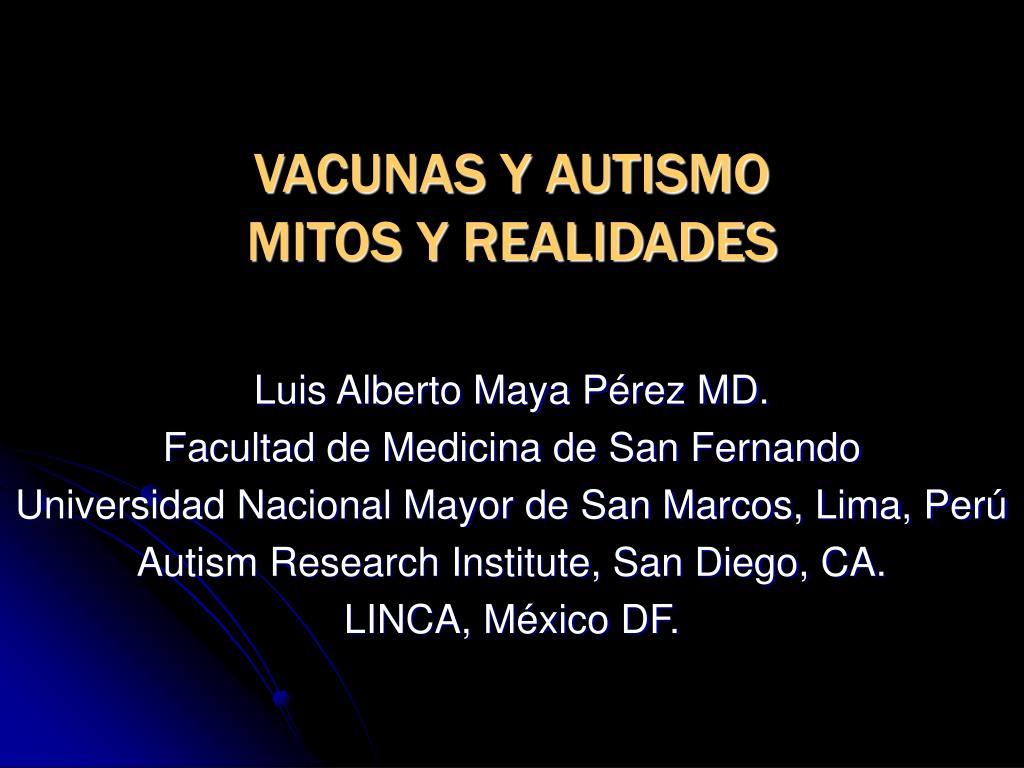 vacunas y autismo mitos y realidades l.