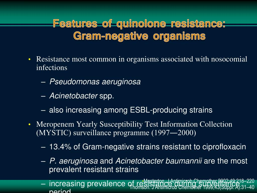 Resistance most common in organisms associated with nosocomial infections