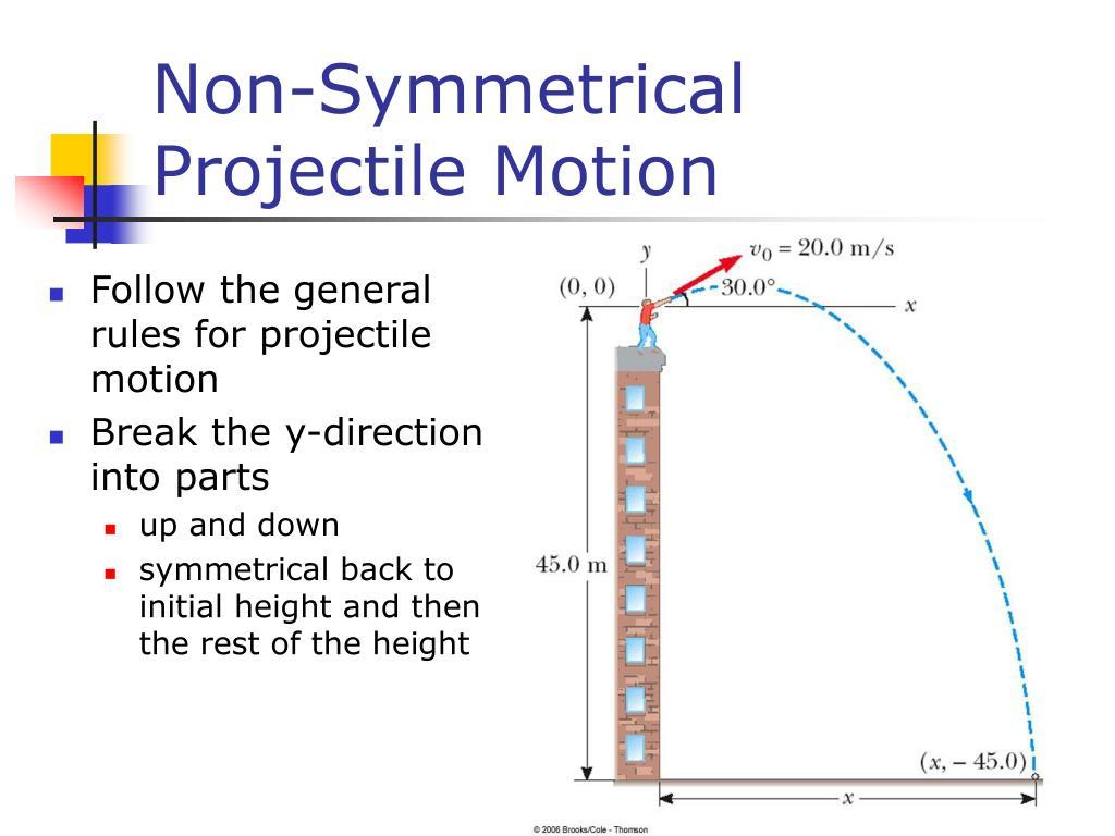 Non-Symmetrical Projectile Motion