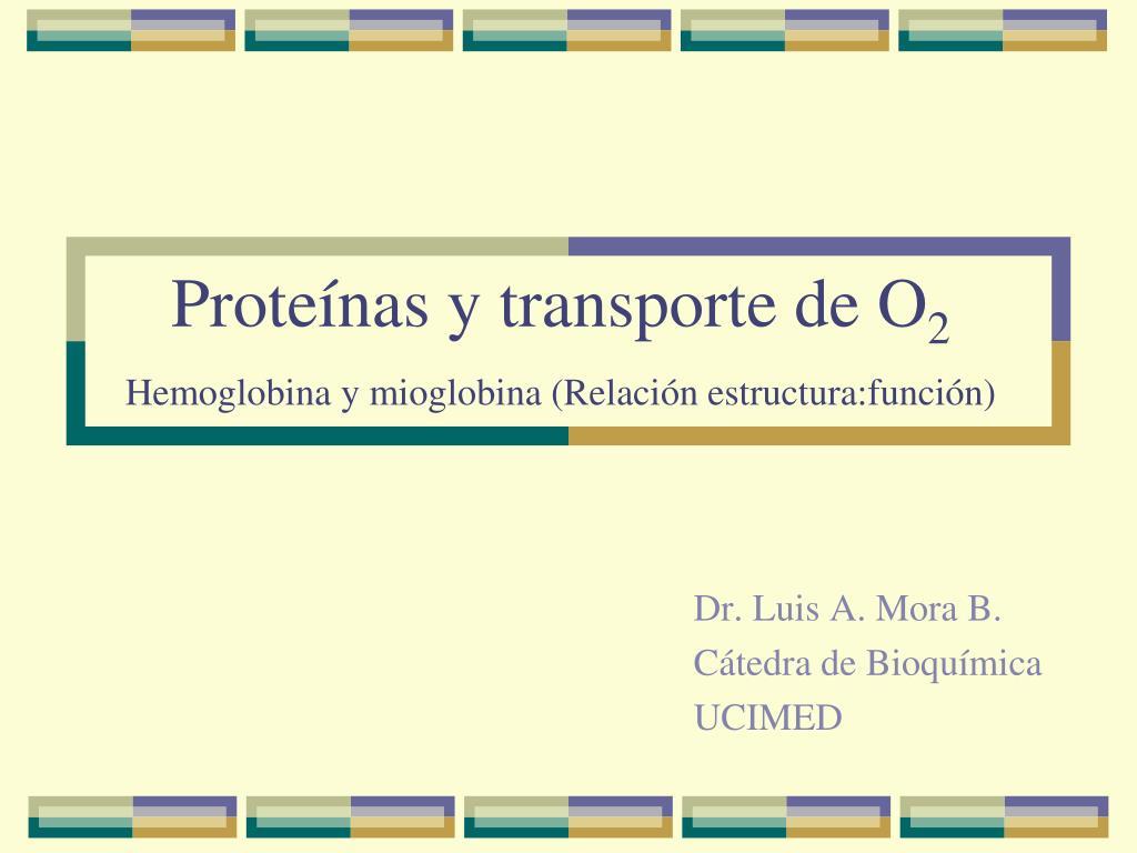 Ppt Proteínas Y Transporte De O 2 Hemoglobina Y Mioglobina