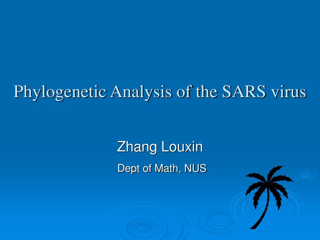 phylogenetic analysis of the sars virus l.