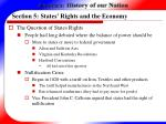 section 5 states rights and the economy25