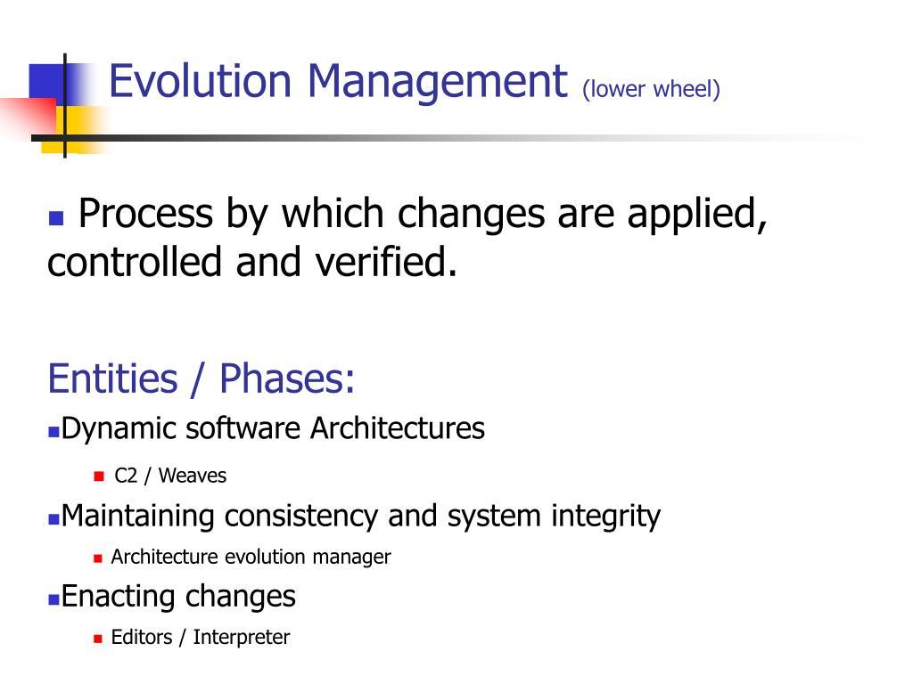Evolution Management