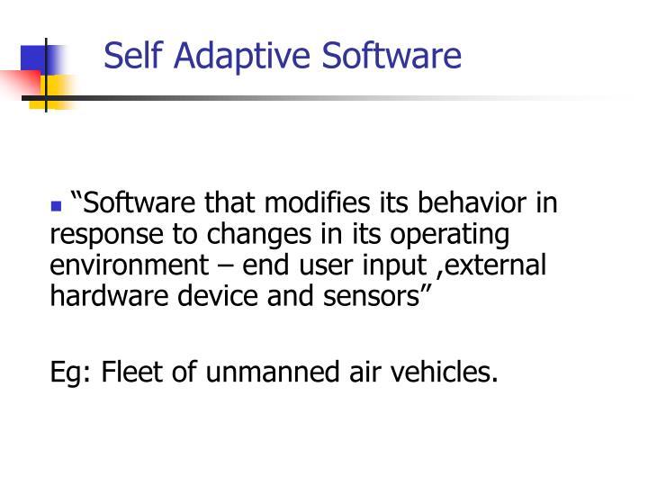 Self adaptive software2