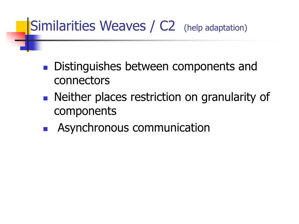 Distinguishes between components and connectors