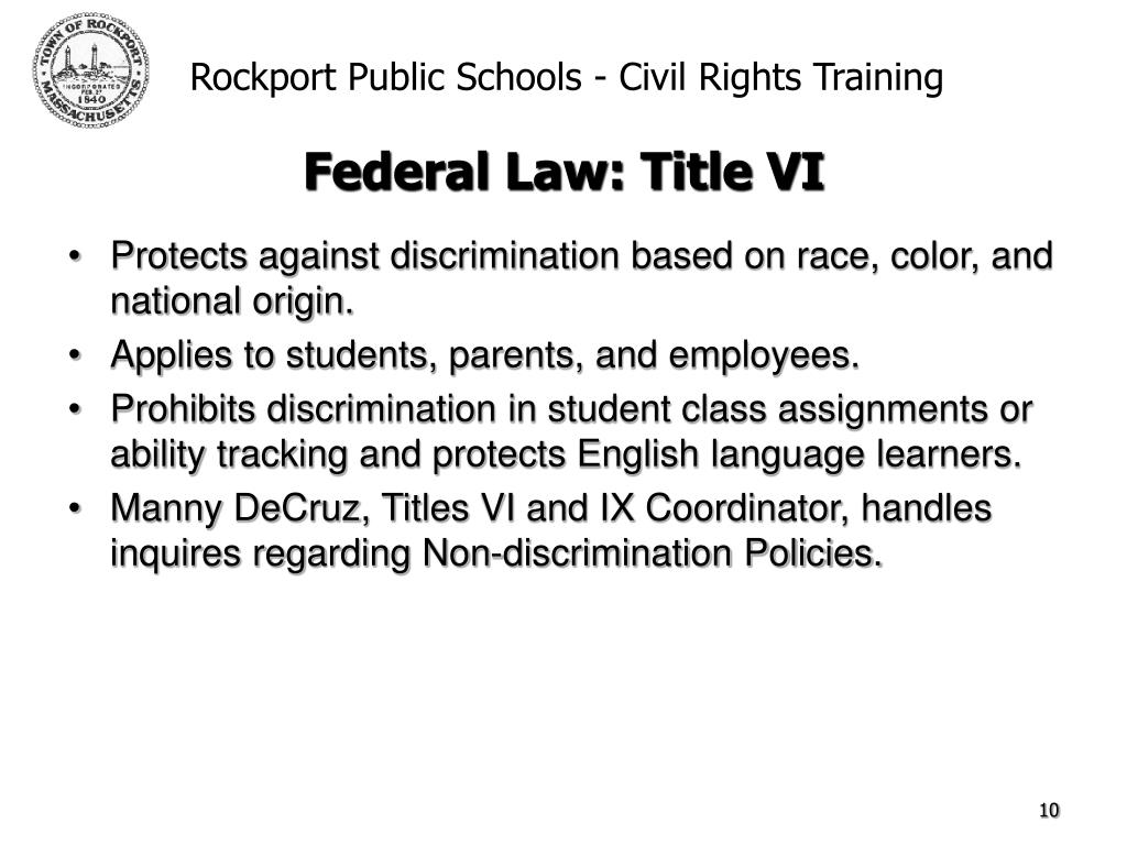 Protects against discrimination based on race, color, and national origin.