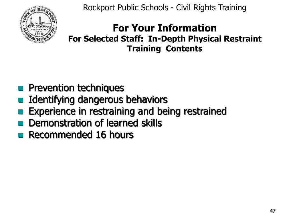 Rockport Public Schools - Civil Rights Training
