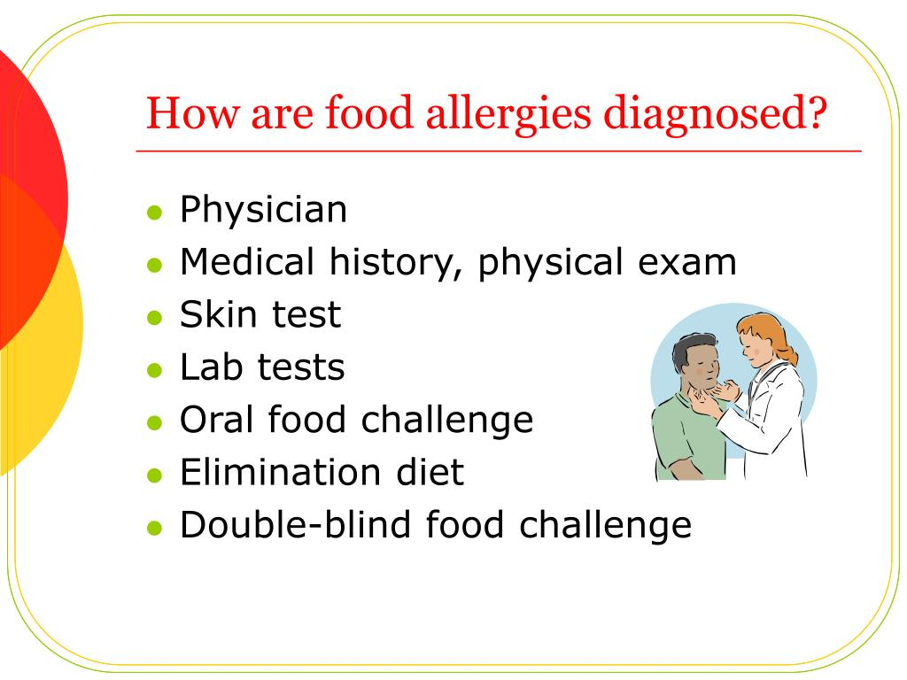 How are food allergies diagnosed?