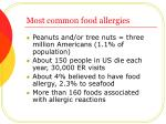 most common food allergies7