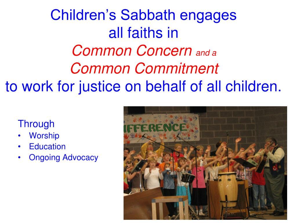 Children's Sabbath engages