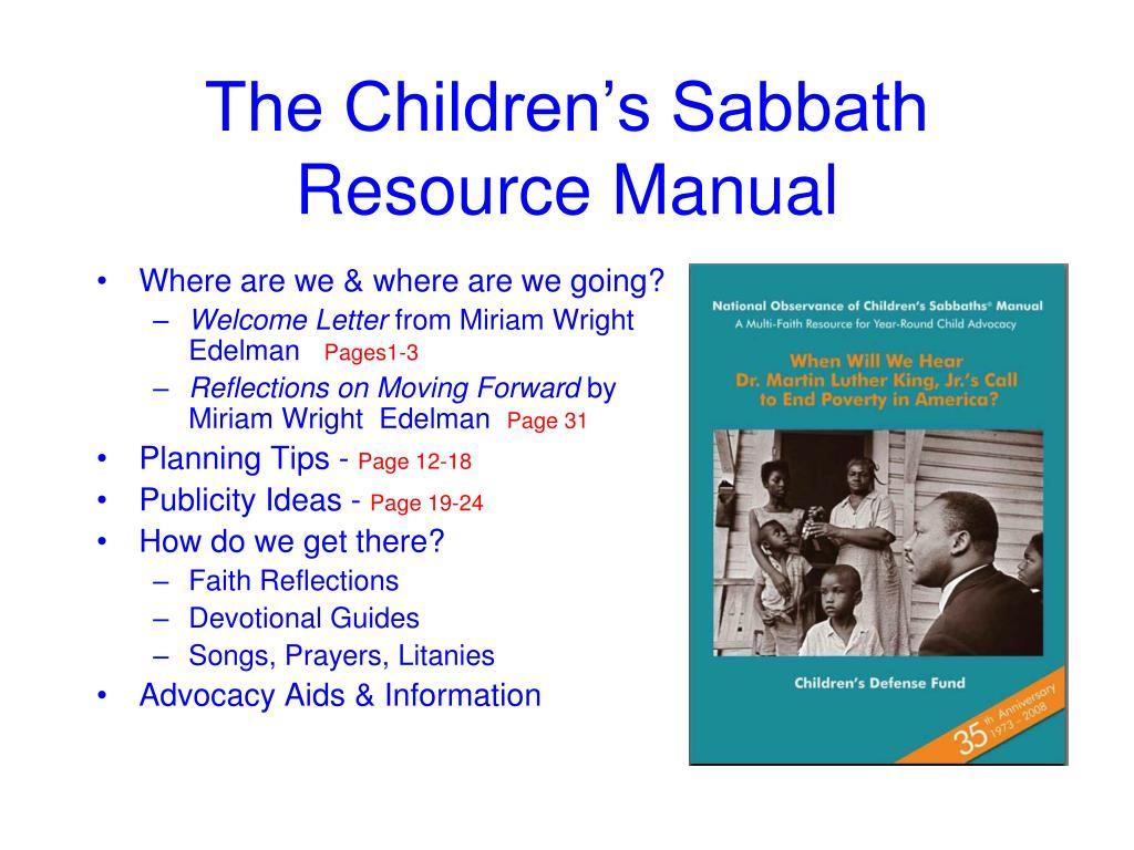 The Children's Sabbath Resource Manual