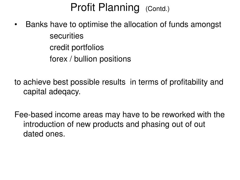Profit Planning