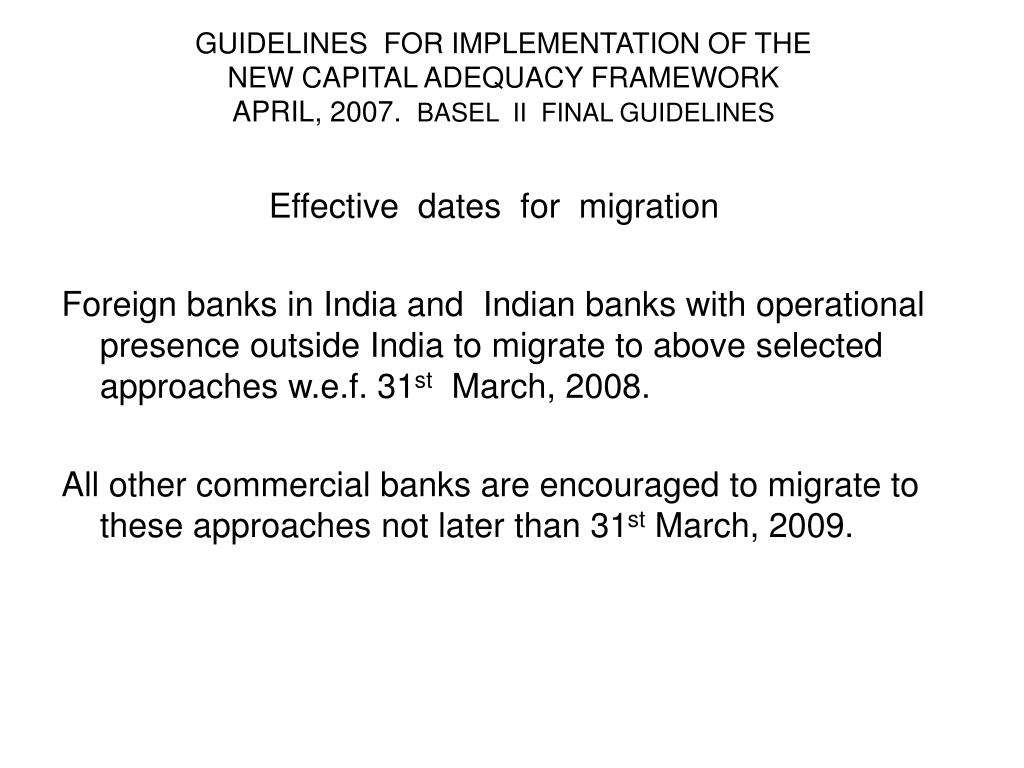 GUIDELINES  FOR IMPLEMENTATION OF THE