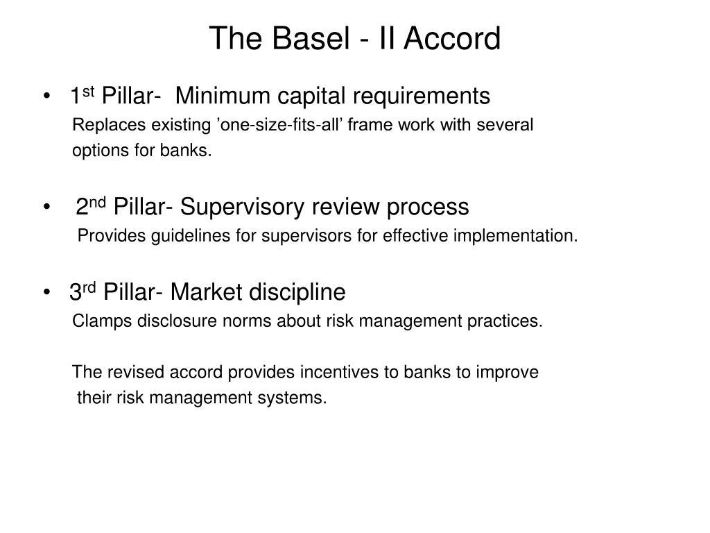 The Basel - II Accord