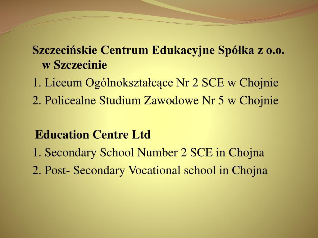 Szczecińskie Centrum Edukacyjne Spółka z o.o.