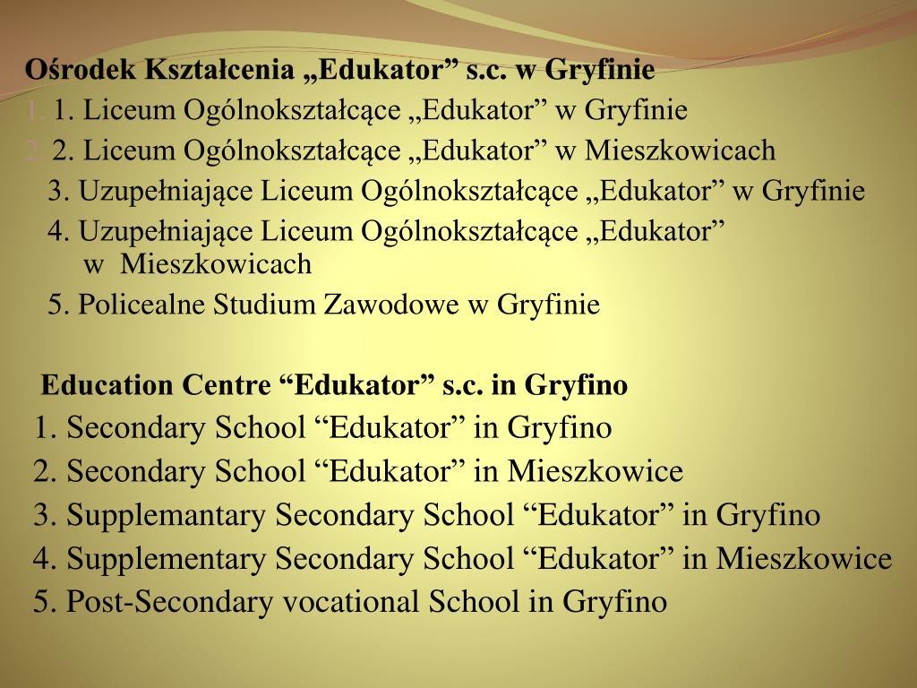 """Ośrodek Kształcenia """"Edukator"""""""