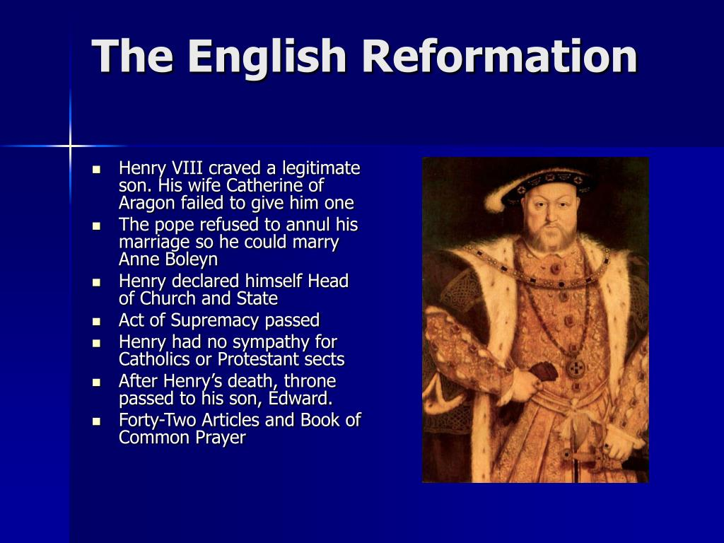The English Reformation